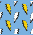 lightning seamless pattern hand drawn sketched vector image vector image