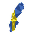 low poly style map of sweden vector image