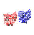 map of ohio vector image vector image