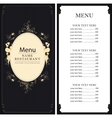 menu with price list vector image vector image