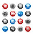 network and server icons vector image vector image