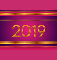 new year tech bronze and purple 2019 abstract vector image vector image