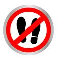 Not Walk icon vector image vector image