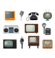 old style technics 80s retro household gadgets vector image vector image