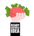 Ready business idea Business Solutions brain in vector image