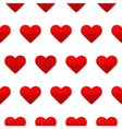 Red hearts seamless pattern white background vector image vector image