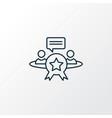 reputation management icon line symbol premium vector image vector image