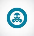 respirator icon bold blue circle border vector image vector image