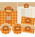 set design elements for fast food vector image