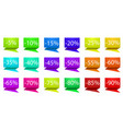 set off colorful business sale off tags stock vector image vector image