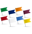 set pin icon flags vector image