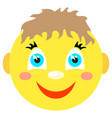smiley boy smiles vector image vector image