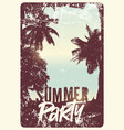 summer tropical party typographic vintage poster vector image vector image