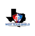 texas shield vector image vector image