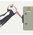 The hand and the Switch vector image vector image