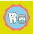 tooth and mouthwash isolated icon design vector image vector image