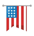 united states of america flag icon vector image vector image