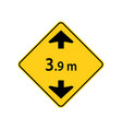 usa traffic road signs maximum truck clearance vector image vector image