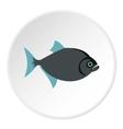 Vampire fish icon flat style vector image vector image