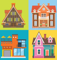 Various buildings house vector image vector image