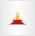 volcano symbol icon design element vector image vector image