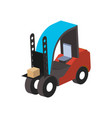 warehouse forklift truck isometric isolated icon vector image vector image
