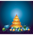 with christmas tree and many gifts vector image vector image