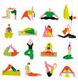 yoga poses asanas set vector image vector image