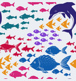 cartoon seamless underwater background vector image
