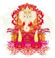 Diwali Ganesha Design vector image