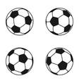 icon set of ball for european football soccer vector image