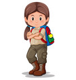a girl scout character vector image vector image