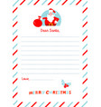 a4 christmas letter to santa claus template vector image