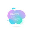 abstract shape color gradient design with vector image vector image