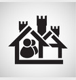 accomodation icon vector image vector image