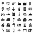 apartment icons set simple style vector image vector image