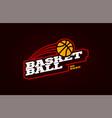 basketball mascot modern professional sport vector image