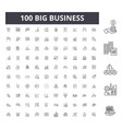 big business line icons signs set vector image vector image