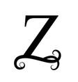 black letter z capital letter for monograms vector image vector image