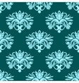 Blue and green seamless floral pattern vector image