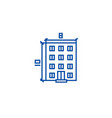 buildingarchitecture project line icon concept vector image vector image