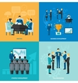 Business Flat Set vector image vector image