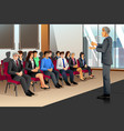 businesspeople in seminar vector image