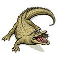 cartoon green crocodile vector image