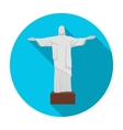 Christ the Redeemer icon in flat style isolated on vector image