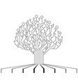 circuit board tree technology cpu vector image