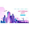 city landscape concept vector image vector image