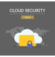Cloud security banner concept vector image vector image