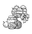 coloring page in with household autumn elements vector image vector image