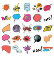 comic book speech bubbles and cartoon sound vector image vector image
